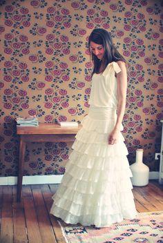 Pretty wedding dress (By Delphine Manivet)