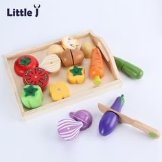 Wooden Educational Toys For Children Barrel Suit Simulation Kitchen Toys Cutting Fruit Vegetable Birthday Gifts For Girls Boys Terrific Value Back To Search Resultstoys & Hobbies