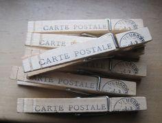 carte postale paris pins