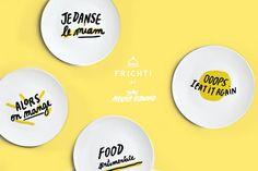 Lacool collab qui nous fait de l'oeil cette semaine, c'est la collection capsule d'assiettes simples et funky imaginée par l'illustratrice Melody Leblond pour Frichti et tous les amoureux de bons petits plats ! Inspirée par la musique, la bien nommée Melody revisite avec humour les titres de chansons cultes et on aime ça ! Assiettes Oops It Eat it Again, Food Sentimentale, Je danse le Miam et Alors on mange, 8,50 euros l'une sur Frichti.co