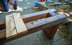 Follow this simple tutorial to build a beautiful DIY bench—unique,  beautiful, and solid. No more wobbly bench!
