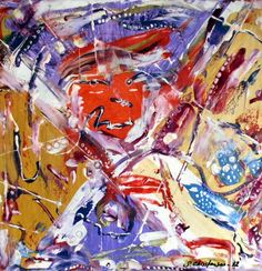 Diskofil - olie på lærred (40x40) 2012 af Svend Christensen