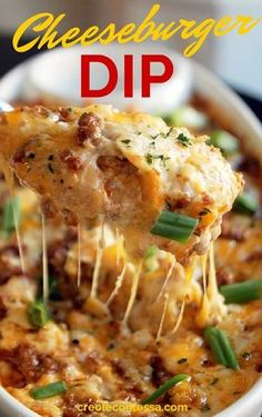 Cheeseburger Dip | Community Post: 12 Knock-Your-Socks-Off Holiday Party Foods