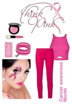 """""""Cancer awareness month"""" by crystalsnowflake ❤ liked on Polyvore featuring Bobbi Brown Cosmetics, Casetify, Ally Fashion and Boutique Moschino"""