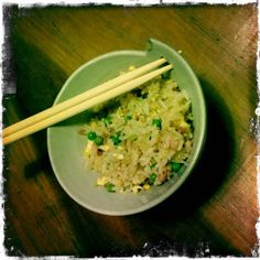 The Cantonese Fried Rice Jasmine Rice, Perfect Food, Fried Rice, Ham, Risotto, Grains, Homemade, Fresh, Ethnic Recipes