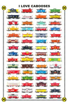 Maybe I have a thing for trains... (Hand drawn Caboose drawings by Andy Fletcher)