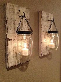 Pallet Projects : Pallet Hanging Sconces