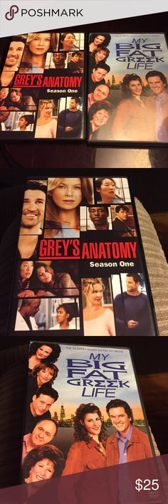 Movie Season set combo Greys anatomy Season 1 speaks for itself just awesome ❤️and the only Season made of My Big Fat Greek Life...I love this one it's hilarious ❤️ DVDS Other