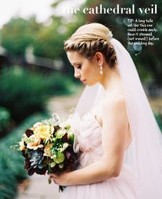The Cathedral Veil | How to Wear a Wedding Veil | blog.theknot.com