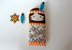 Native American Indian doll Scandinavian RetroMini by gunnaydri
