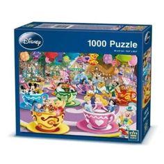 King Disney Mad Tea Cup Jigsaw Puzzle.  27x20