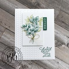 Art And Craft, Karten Diy, Stamping Up Cards, You Gave Up, Ferns, Making Ideas, Cardmaking, Greenery, Birthday Cards