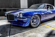 700HP LSA 2nd Gen Camaro running our indicator lights taillights trunk hinges and interior door handles #fesler #feslerbuilt #feslernation #2ndgen #1970 #z28 #chevy #camaro #lsa #supercharged #badass #custom #blue #hotrod #musclecar #carporn #carswithoutlimits #fourwheelporn