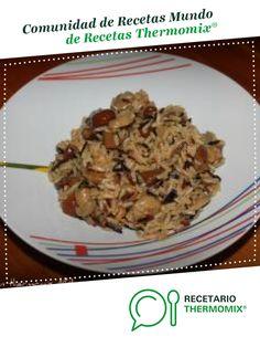Revuelto de setas y arroz salvaje por melbinita. La receta de Thermomix<sup>®</sup> se encuentra en la categoría Arroces y pastas en www.recetario.es, de Thermomix<sup>®</sup> Pasta, Diet Ideas, Oatmeal, Grains, Rice, Chicken, Breakfast, Food, Arrows