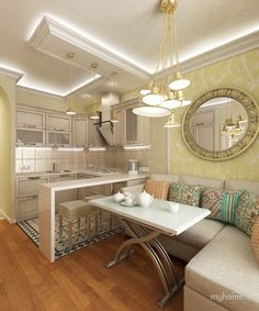 Small Dining Room Design Ideas Apartment Therapy - home design Small Living Room Design, Small Living Rooms, Living Room Kitchen, Dining Room Design, Dining Rooms, Kitchen Cook, Island Kitchen, Kitchen Small, Dining Area