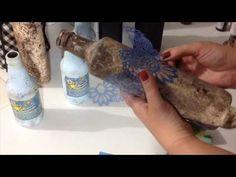 Garrafa Decorada com Pintura Falso Couro e Falso Bordado ( ARTESANATO, DIY, RECICLAGEM ) - YouTube