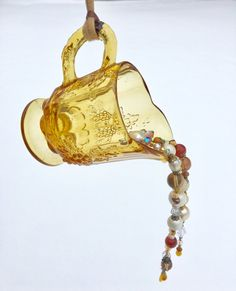 Repurposed Glass Bead Mobile Sun Catcher Recycled by mscenna