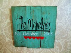 Personalized Reclaimed Wooden Plank Distressed Vintage by MyLydia, $40.00