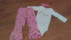 Hey, I found this really awesome Etsy listing at https://www.etsy.com/listing/256198079/3-piece-outfit-first-birthday-onesie-one