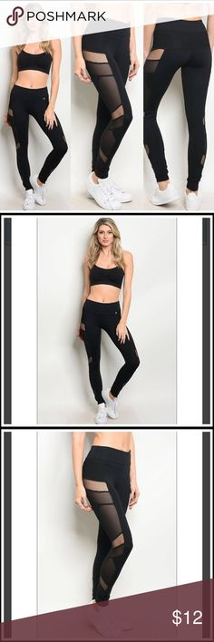 🆕 Black Mesh Athletic Leggings BRAND NEW! Size: S-M-L Fabric Content: 80% Nylon 14% Spandex 6% Polyester High quality material leggings, perfect for gym or everyday wear. Pants Leggings
