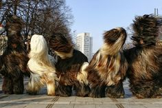 Kukeri - is a traditional Bulgarian ritual to scare away evil spirits, with costumed men performing the ritual