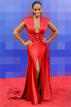 A walk down the red carpet with Tika Sumpter and some of the season's most coveted evening gowns. Beautiful Dark Skinned Women, Beautiful Black Women, Chic Outfits, Fashion Outfits, Ladies Fashion, Tika Sumpter, The Maxx, Fashion Beauty, Fashion Looks