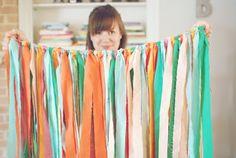 Vorhang aus Bändern