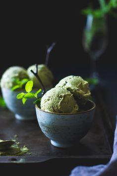 "delta-breezes: ""Matcha Mint Ice Cream | The Bojon Gourmet """