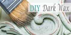 Step by step directions to make your own dark wax for an antiqued look.