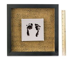 Mother's Day Mounted Canvas Footprint Shadow Box – Intermediate