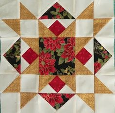 Thoughts of a Grasshopper: Christmas Quilt . . . Almost Done