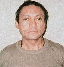 Manuel Antonio Noriega Moreno (born February 11, 1934) is a former Panamanian politician and soldier. He was military governor of Panama from 1983 to 1989. In the 1989 invasion of Panama by the United States he was removed from power, captured, detained as a prisoner of war, and flown to the United States. Noriega was tried on eight counts of drug trafficking, racketeering, and money laundering in April 1992.