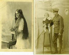 """Photos belonging to Joseph Kinna. He was conscripted in 1916 and joined the Gloucestershire Regiment. Verso reads, """"This photo came over the top with me at Grandcourt on 18/11/16."""