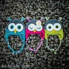 Baby owl hats crochet.free pattern » The Homestead Survival