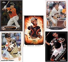 Buster Posey (5) Baseball Cards - San Francisco Giants Assorted MLB Major League Baseball Trading Cards