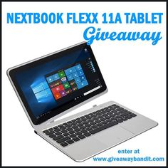 Looking to upgrade your tablet or laptop? Look no further than the 2 in 1 Nextbook Flexx 11A Tablet PC Giveaway for your chance to win one!
