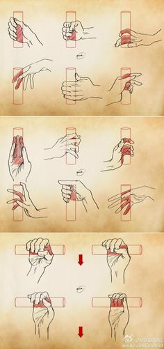 Drawing the hand holding objects