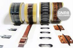 X-tape is a series of printed adhesive tapes which gives the illusion that your package is sealed with o-rings, hinges, tower bolts or leather straps.