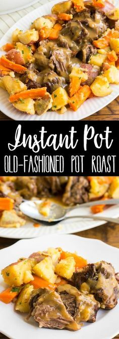 Instant Pot Old-Fashioned Pot Roast with Gravy & Vegetables is the best pot roast I've ever made. This easy, one-pot dinner is a family favorite! pot recipes roast Instant Pot Old-Fashioned Pot Roast Instant Pot Pot Roast, Instant Pot Dinner Recipes, Instant Pot Veggies, Instant Pot Beef Stew Recipe, Instant Cooker, Instant Pot Pressure Cooker, Pressure Cooker Pot Roast, Pressure Pot, Pressure Cooking Recipes