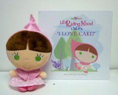 "Lil' Riding Hood & Wolfie ""I love Cake"" + plush"