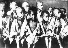 Ravensbruck Concentration Camp..Emaciated Children part of Nazi Experimentation