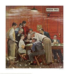 """jury room- norman rockwell (we're much more powerful than we think -we need only not to mindlessly """"go along"""")"""