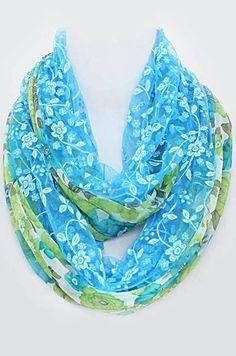 Josie Lace Scarf in Soft Blue
