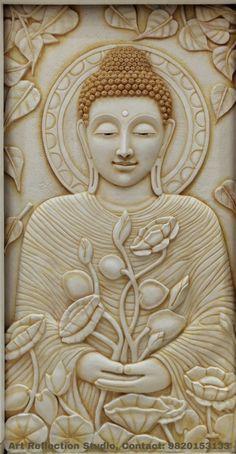 Clay Wall Art, Mural Wall Art, Mural Painting, Buddha Wall Art, Buddha Painting, Buddha Home Decor, Peacock Wall Art, Ancient Indian Art, Clay Art Projects