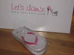 Box of Heels Off Wedding Flip Flops - flip flops for guests - ready to put on the dance floor at a wedding in the USA x
