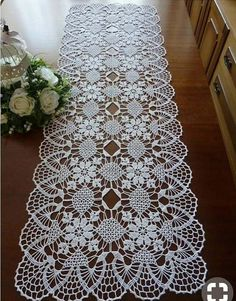 lace table cloth,white doily,lace doily, floral do Crochet Doily Rug, Crochet Doily Patterns, Crochet Tablecloth, Crochet Gifts, Filet Crochet, Lace Patterns, Beau Crochet, Crochet Table Topper, Crochet Table Runner