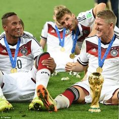 Jerome Boateng wished the midfielder luck and posted this World Cup picture to his Twitter account