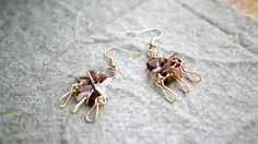 GoldFlash in TimeDropStoneEarrings by AMAYZSTUDIO on Etsy, $10.00