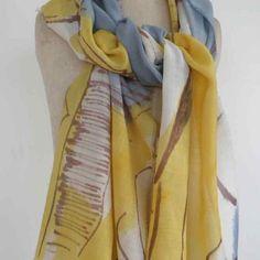 Dionne Swift Hand painted fine wool 195 x 45cm scarf http://www.dionneswift.co.uk