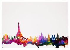 Paris Watercolor Illustration 11x14 Print by TalulaChristian